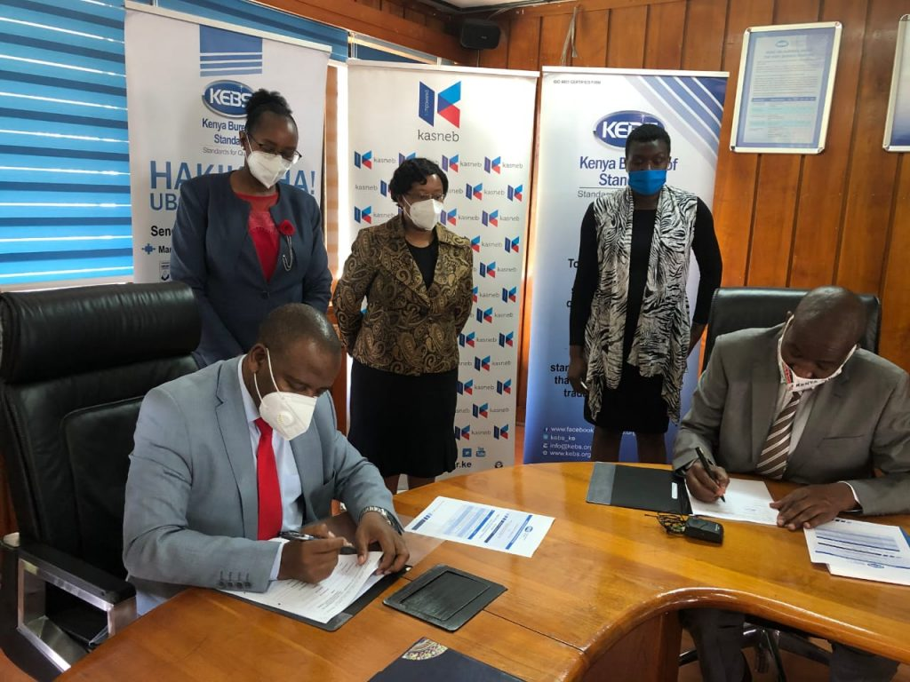KEBS Signs MOU with kasneb for certification of quality practitioners